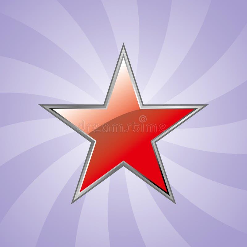 Red glossy star vector illustration