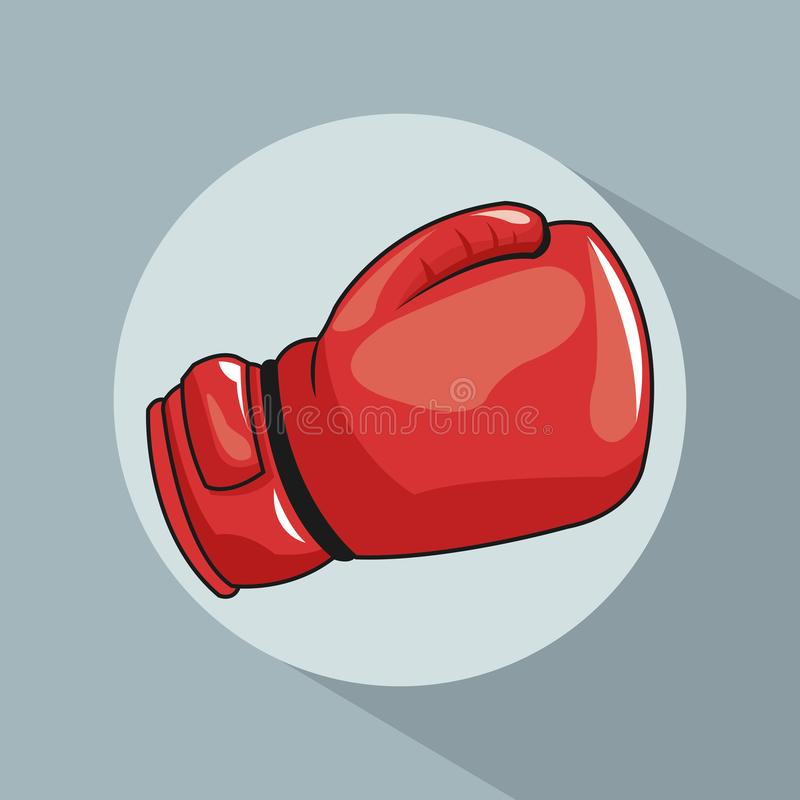 Glove boxing pop art comic design. Red glove boxing cartoon pop art comic retro communication icon. Colorful design. Vector illustration vector illustration