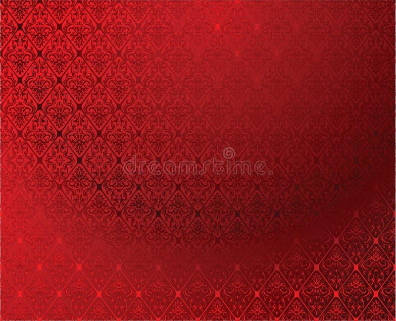 Red Glow Atlas Seamless Wallpaper