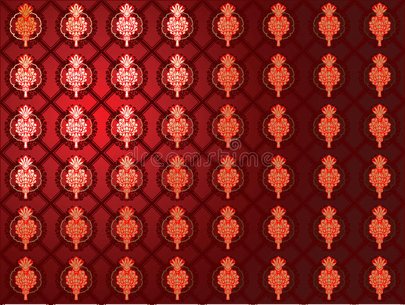Download Red Glow Gold Seamless Wallpaper. Stock Vector - Image: 13512018
