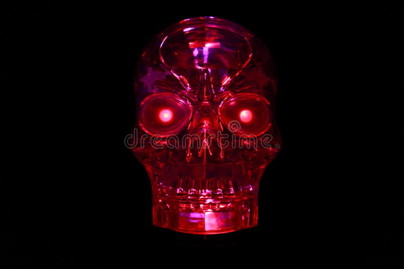Red Glowing SKull royalty free stock photography