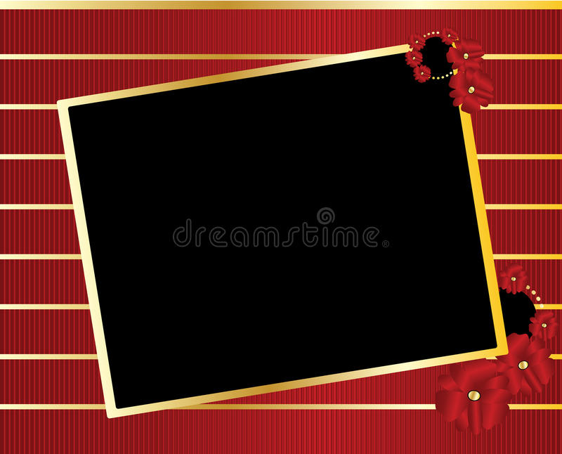 Download Red Gold Black Tilted Rectangle Frame Background Stock Vector - Image: 12665057