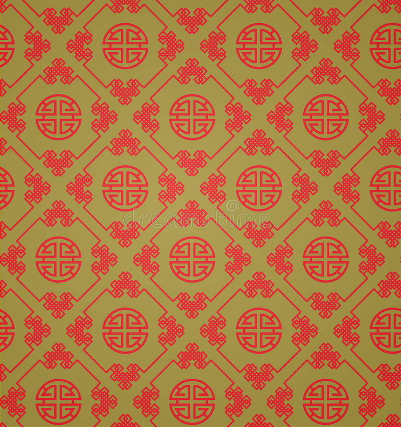Download Red And Gold Chinese Patterns Vector Stock