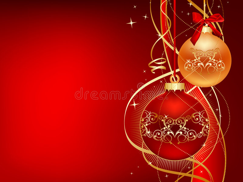 Red_and_gold_christmas illustration libre de droits