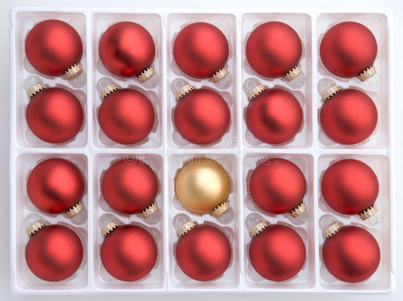 Red and gold christmas decorations royalty free stock photos
