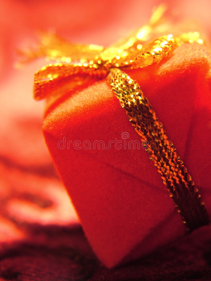 Red and Gold Gift royalty free stock image