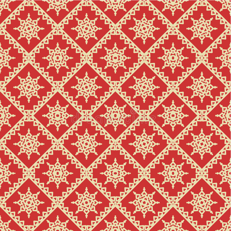 Red and gold holiday seamless background vector illustration