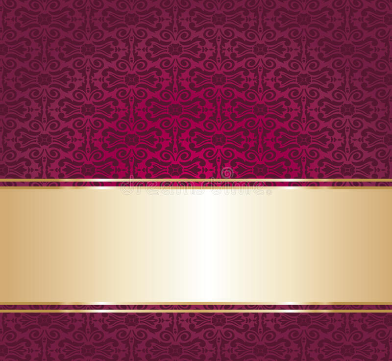 red and gold luxury vintage wallpaper background stock