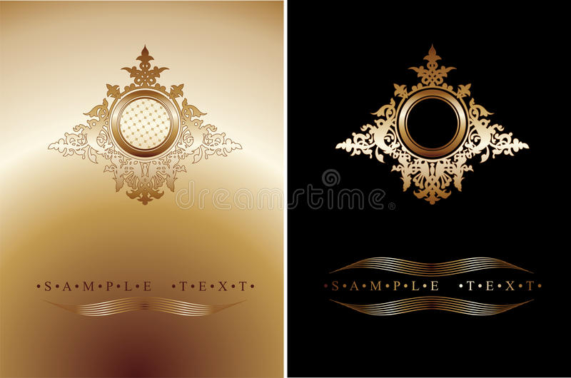 Download Red And Gold Ornate Banner stock vector. Image of frame - 10591393