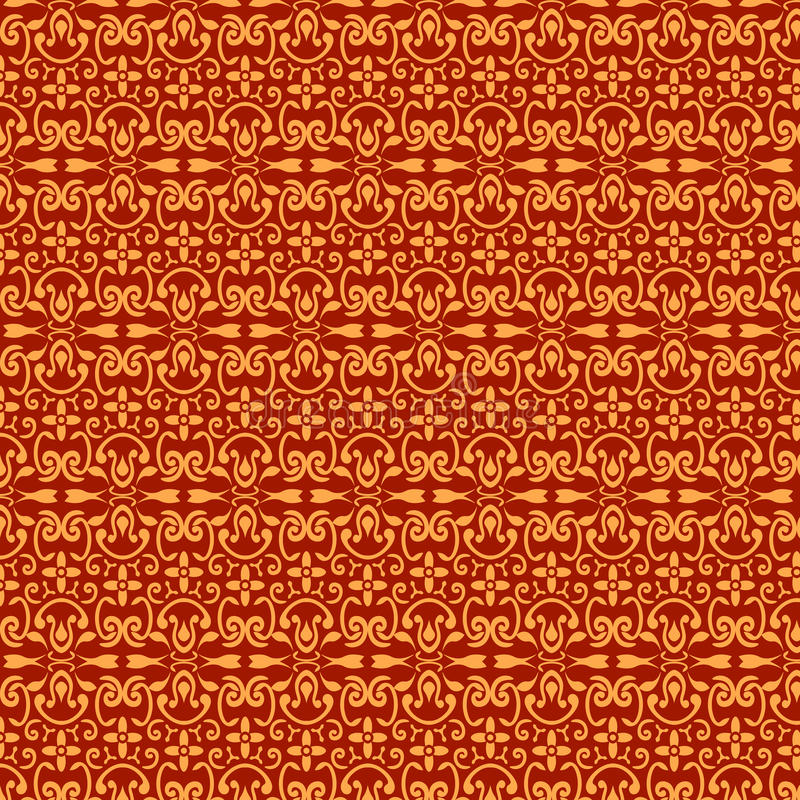 Red and gold pattern stock photos