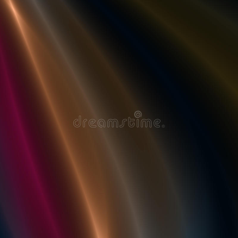 Red, Gold & Silver streaks of light. Red, Gold and Silver flowing light streaks background royalty free illustration