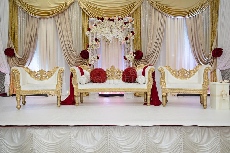 Red and gold wedding stage stock image image of stage 63103045 red and gold wedding stage junglespirit Gallery