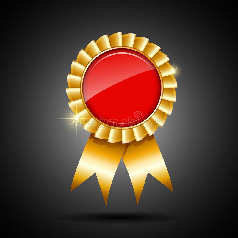 Red and gold the winner ribbon award royalty free illustration