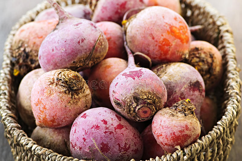 Download Red and golden beets stock image. Image of basket, roots - 13480681