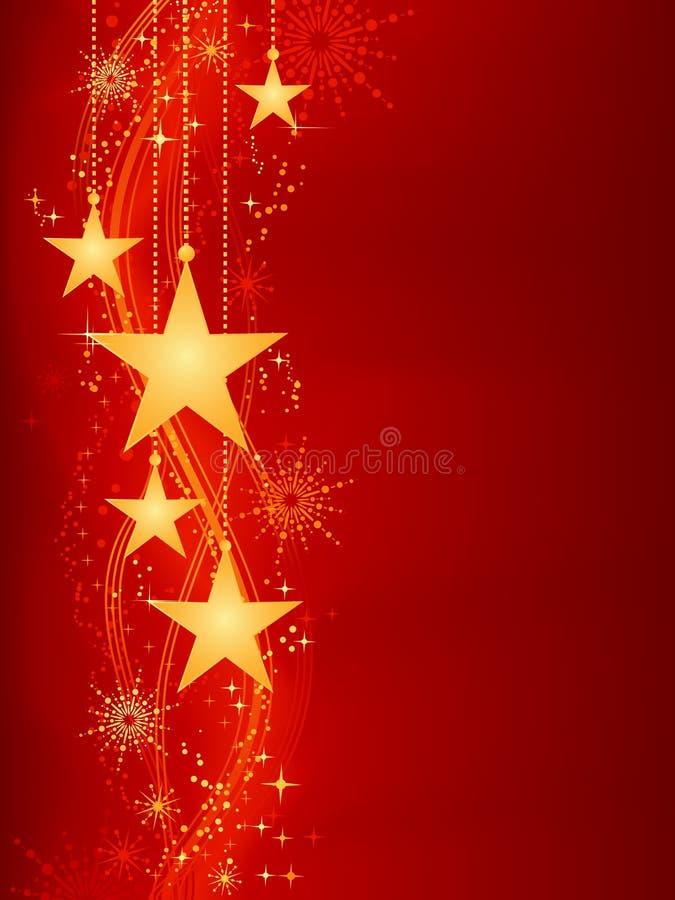 Download Red Golden Christmas Background Stock Vector - Illustration of flake, celebrate: 11706296