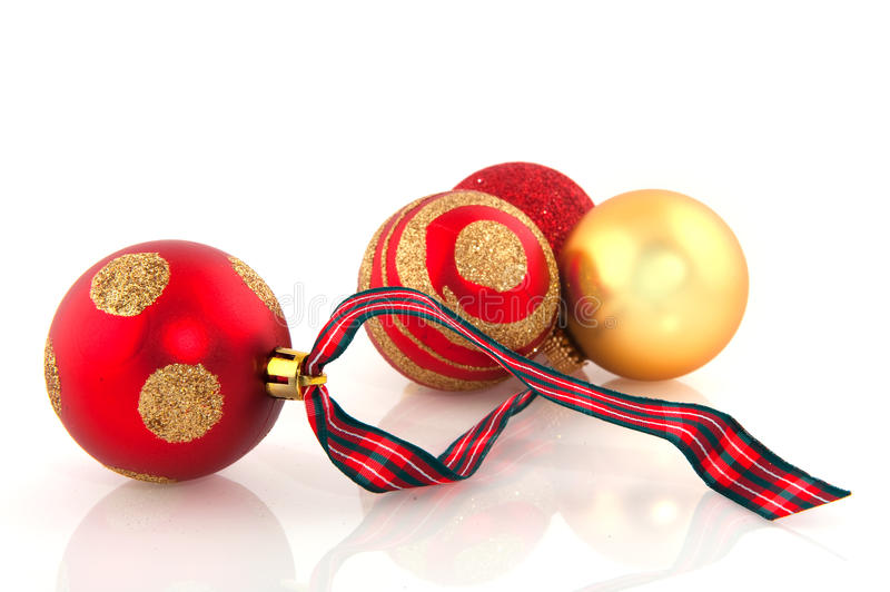 Download Red And Golden Christmas Balls Stock Image - Image: 11314463