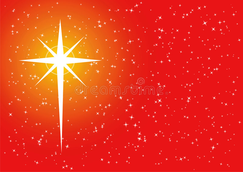 Download Red golden xmas cross star stock vector. Image of card - 6980125
