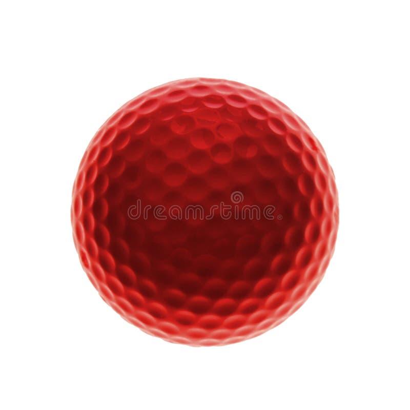 Red golf ball vector illustration