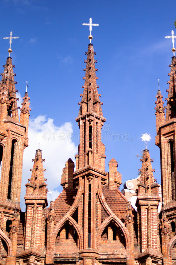 Download Red gothic church stock image. Image of outdoor, vertical - 27648511