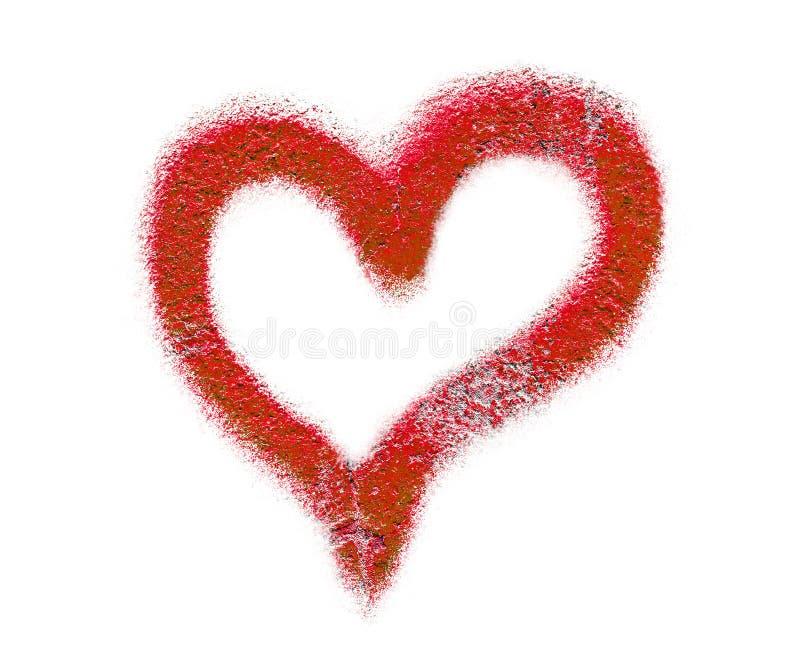 Red graffiti heart royalty free stock image