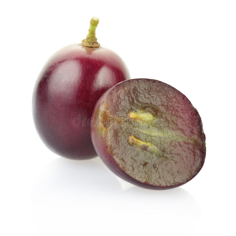 Red grape berries stock photos