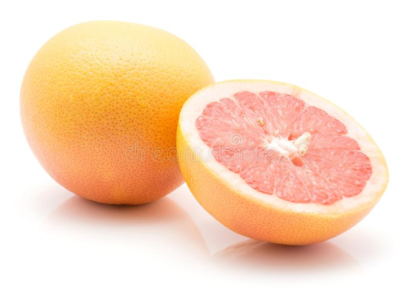 Red grapefruit isolated stock image