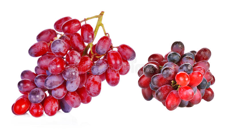 Red grapes white background royalty free stock photo