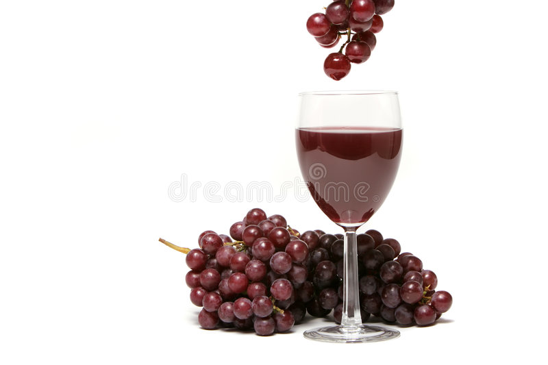 Download Red grapes and wine stock photo. Image of juicy, cluster - 2351538