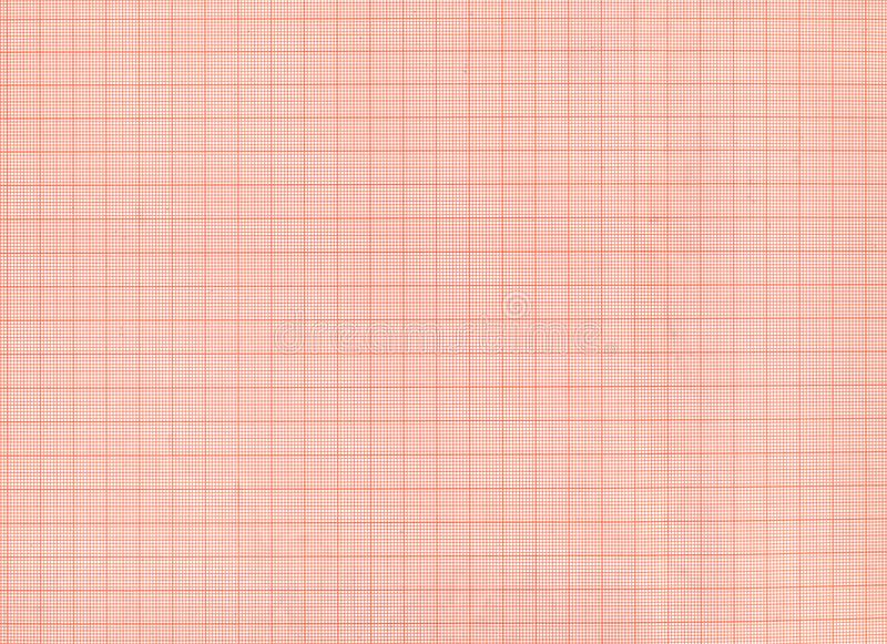 Red graph paper texture. Or background stock image