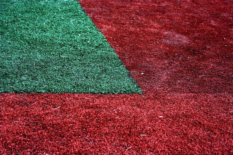 Red and green grass royalty free stock photo