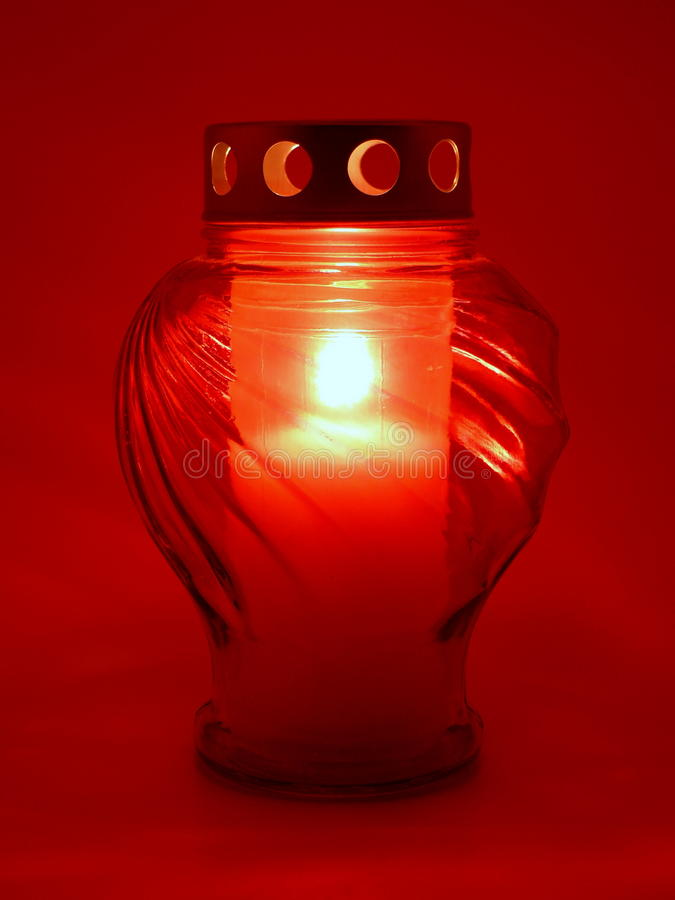 Red grave light stock image