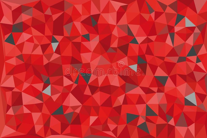 Red and gray triangular pattern - triangles mosaic. Vector illustration royalty free illustration