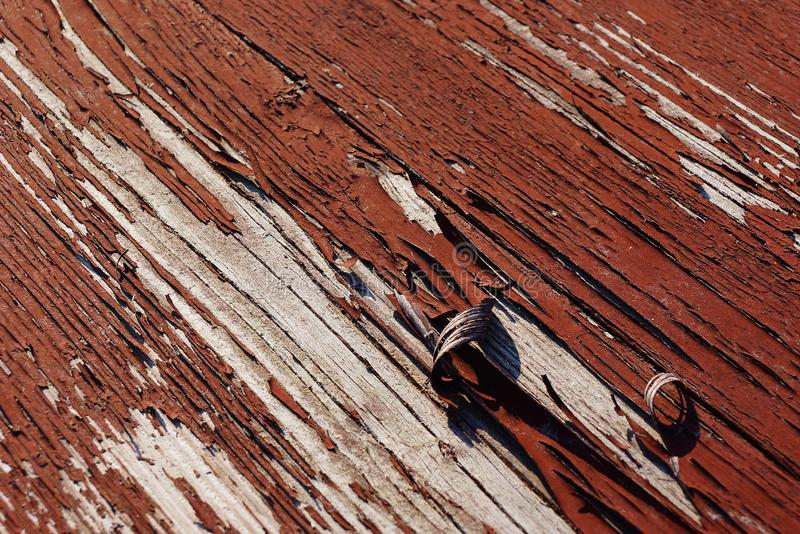 Red gray wooden texture of  worn painted board. Red gray wooden texture of old worn painted board royalty free stock photo
