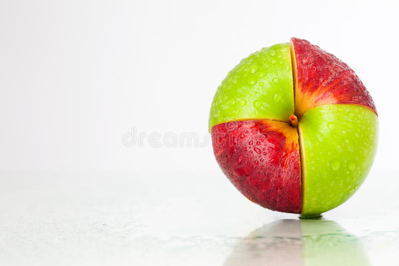Download Red-green apple stock photo. Image of fruit, front, health - 20502578