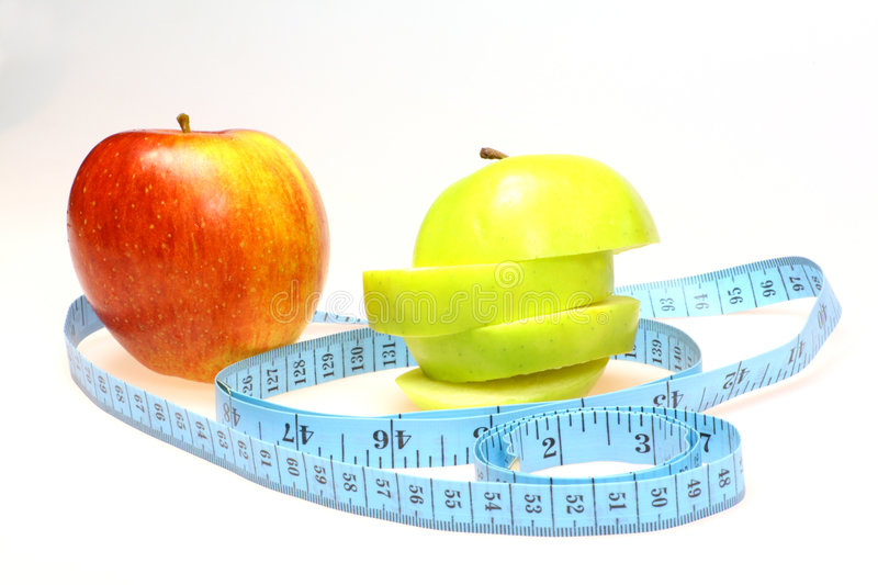 Red and green apple healthy eating royalty free stock photo