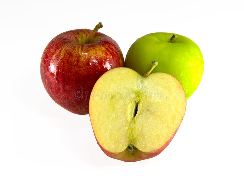 Download Red And Green Apple Isolated Stock Image - Image of green, background: 20303853