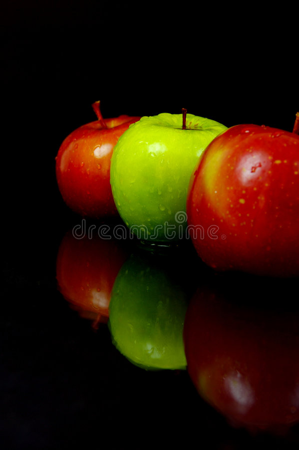 Red & Green Apples stock images