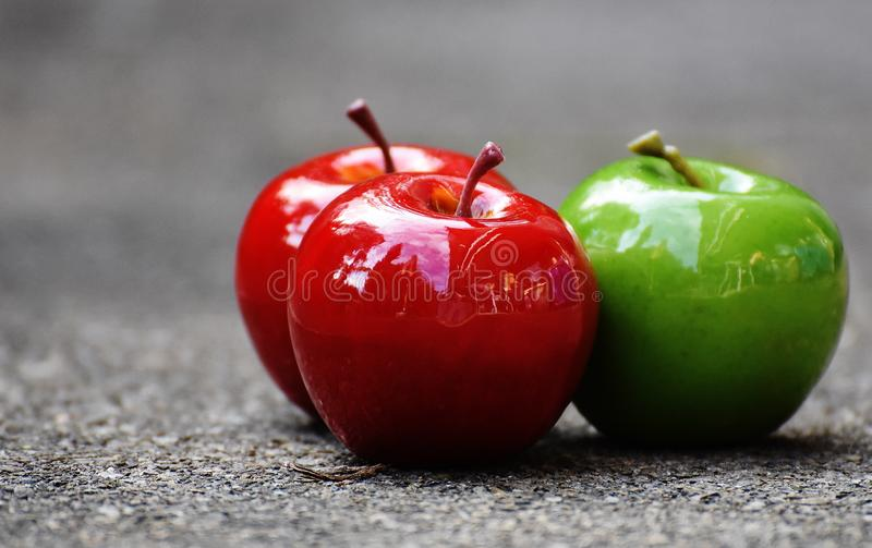 Red and green apples stock image