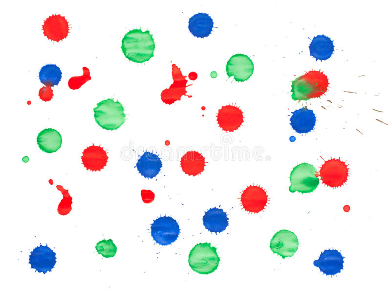 Download Red, green and blue blots stock photo. Image of liquid - 22588402