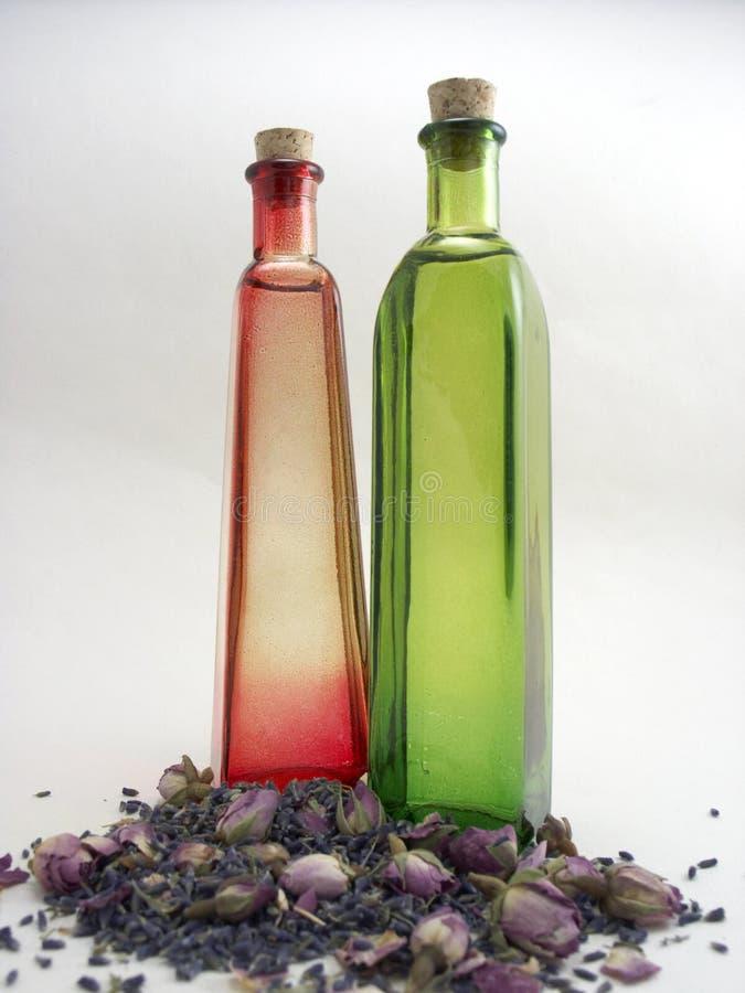 Red & Green Bottles royalty free stock image