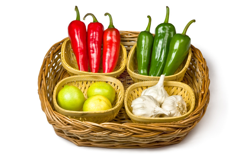 Red and green chili stock photos