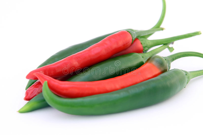 Download Red And Green Chilli Banana Peppers With Green Stalks Stock Image - Image of eating, fresh: 905273