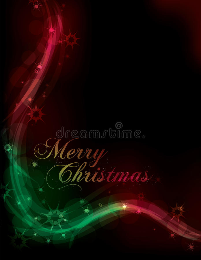 Red and green Christmas light effect backgrou vector illustration