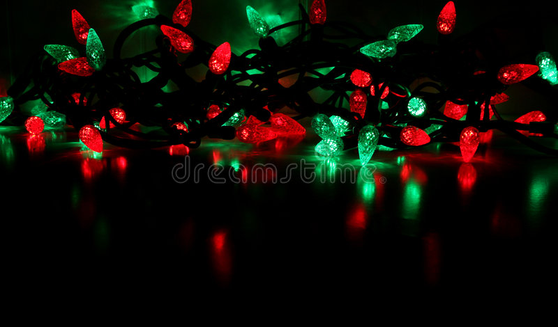 Download Red And Green Christmas Lights Stock Image - Image: 1550497