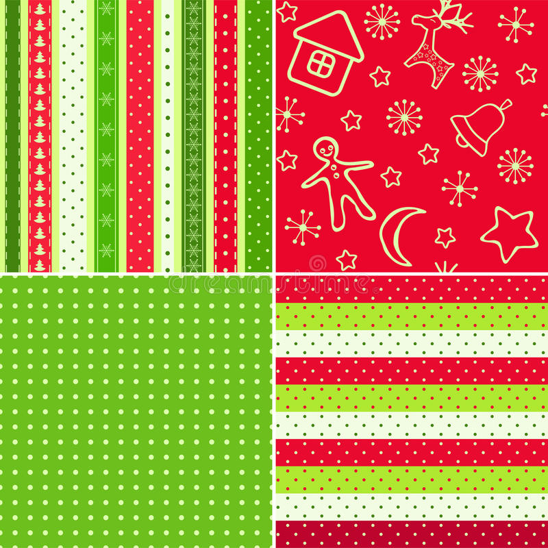 Download Red-green Christmas Seamless. Stock Vector - Image: 21391055