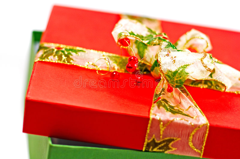 Download Red and green gift box stock image. Image of christmas - 6961537