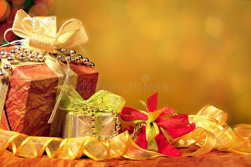 Download Red, Green, Gold, And Silver Wrapped Holiday Chris Stock Image - Image: 12020551