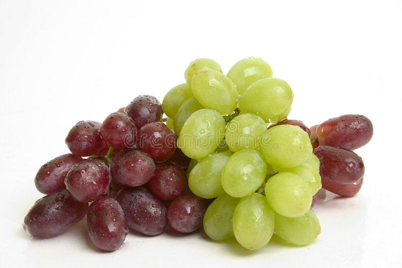 Red and green grapes stock image