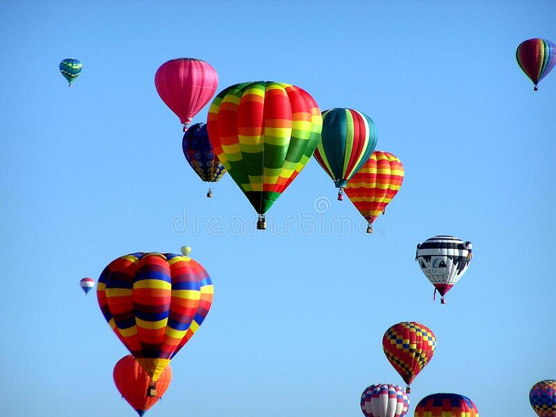Red Green Hot Air Balloon during Daytime royalty free stock photo