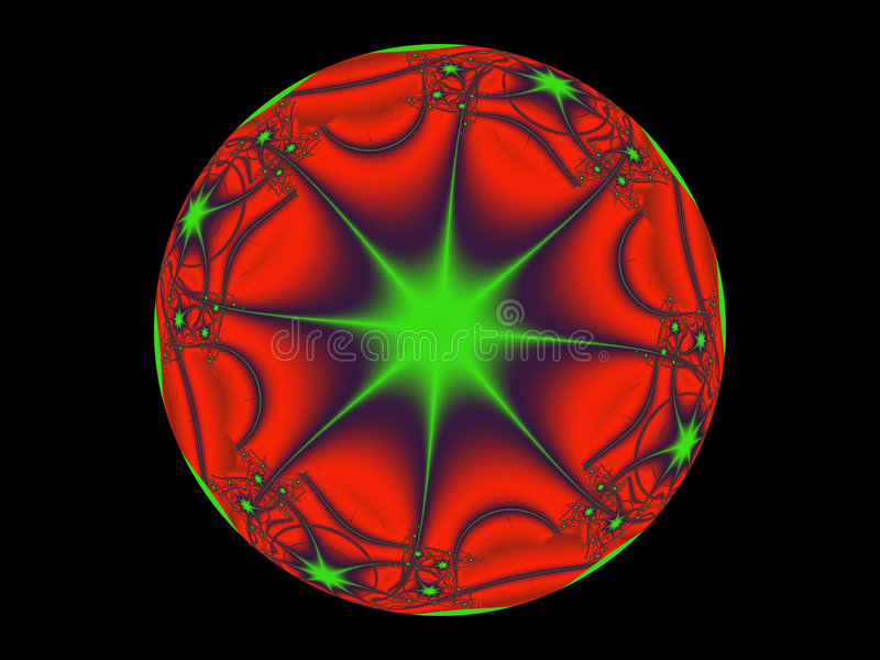Red And Green Mystic Sphere Royalty Free Stock Photo
